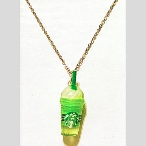 Green Starbucks Frappuccino Necklace